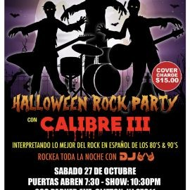 Image for HALLOWEEN ROCK PARTY 2018 CON CALIBRE III EN PALENQUE BAR