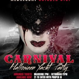 Image for NYC Afterwork Halloween Night Yacht Party Cruise at Skyport Marina Cabana Yacht