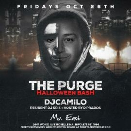 Image for The Purge Halloween Bash DJ Camilo Live At Mister East