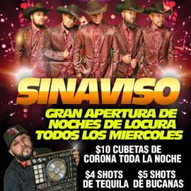 Image for SINAVISO Gran Apertura De Noches De Locura Todos Los Miércoles