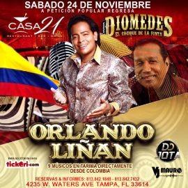 Image for Orlando Liñan Homenaje a Diomedes El Cacique de La Junta en Tampa,FL