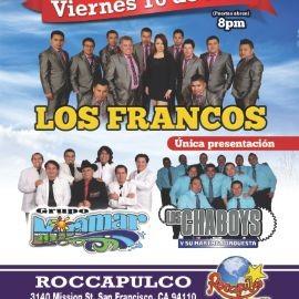 Image for Los Francos, Grupo Miramar & Los Chaboys en San Francisco,CA