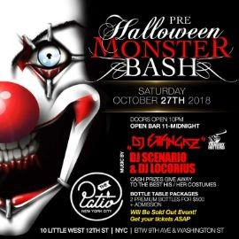 Image for Pre Halloween Monster Bash at The Patio