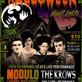 Image for HALLOWEEN 8TH ANNUAL 80'S VS ROCK EN ESPANOL WITH LIVE TRIBUTE BANDS. LA CASA DEL CUERVO IN DOWNEY
