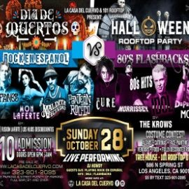 Image for 5 TRIBUTE BANDS ON STAGE: CAIFANES / MON LAFERTE / PANTEON ROCOCO / LA MALDITA / THE CURE / MORRISSEY / DM / DIA DE MUERTOS VS HALLOWEEN DTLA ROOFTOP PARTY