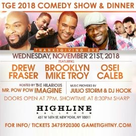 Image for NYC Thanksgiving Eve Comedy Show & Dinner at Highline Ballroom 2018