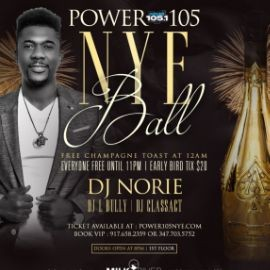 Image for Power 105.1 NYE Ball At Milk River Lounge
