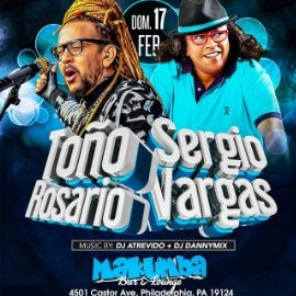 Image for Toño Rosario & Sergio Vargas en Philadelhpia,PA