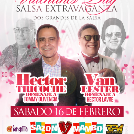 Image for VALENTINES DAY SALSA EXTRAVAGANZA  HECTOR TRICOCHE AND VAN LESTER
