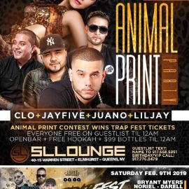 Image for Animal Print Party Trap Fest Ticket Giveaway At SL Lounge