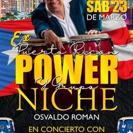 Image for Ex GRUPO NICHE y PUERTO RICAN POWER: OSVALDO ROMAN en CONCIERTO