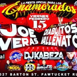 Image for Fiesta Oficial Para Los Enamorados con Joe Veras & Alex Manga y Los Diablitos del Vallenato en Pawtucket,RI