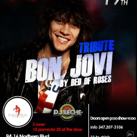 Image for Tribute to Bon Jovi by Bed of Roses in Jackson Heights NY