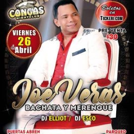 Image for JOE VERAS - Concierto de Bachata y Merengue