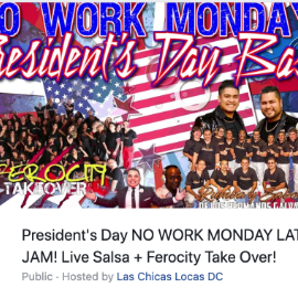 Image for President's Day No Work Monday Latin Jam with Los Hermanos Galvan + Bachata VIP Lounge
