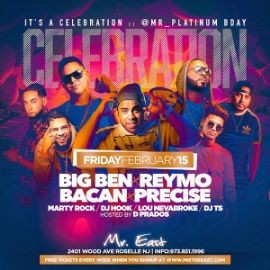 Image for Latin Vibe Fridays Presidents Day Weekend Mr Platinum Birthday Bash At Mister East