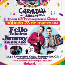 Image for Carnaval de Barranquilla con Fello Zabaleta & Jimmy Zambrana en Sunnyvale,CA