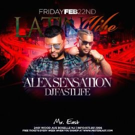 Image for Latin Vibe Fridays Alex Sensation Live At Mister East