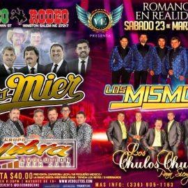 Image for Los Mier, Los Mismos, Grupo Libra  & Los Chulos Chulos en Winston Salem,NC