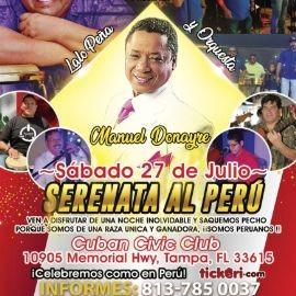 """Image for SERENATA AL PERU """"MANUEL DONAYRE"""" & """"LALO PEÑA Y ORQUESTA"""""""