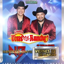 Image for Dueto Voces del Rancho La Impesionante Norteño Banda en Concierto en San Jose,CA