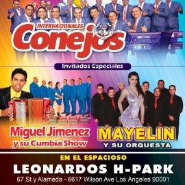 Image for En Concierto: Internacionales Conejos,  Miguel Jimenez y Mayelin y su orquesta en Los Angeles