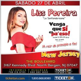 "Image for Liss Pereira ""Venga Que Si Es Pa' Eso"" en New Jersey"