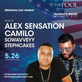 Image for Memorial Day Weekend Atlantic City Harrahs Pool Party 2019