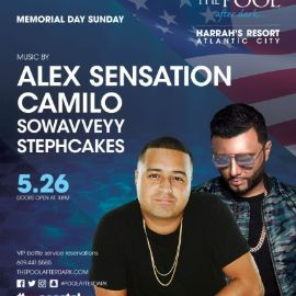 Image for Harrahs Pool Party Euro Ent 12 Year Anniversary DJ Camilo Live With Alex Sensation At Harrahs Resort