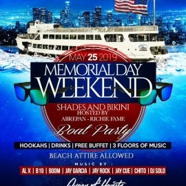 Image for Memorial Day Weekend Boat Party Cruise At Liberty Harbor Marina