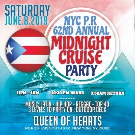 Image for Puerto Rican Day Festival After Party Midnight Boat Cruise At Pier 36
