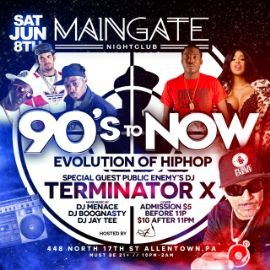 Image for 90s to NOW party w Public Enemy's Terminator X