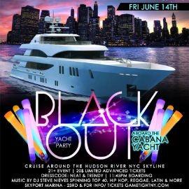 Image for NYC Blackout Yacht Party Cruise at Skyport Marina Cabana Yacht 2019