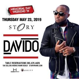 Image for Memorial Day Weekend Davido Live At Story Nightclub