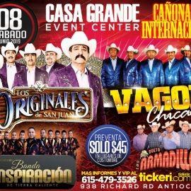 Image for Los Originales de San Juan,Vagon Chicano y Mucho Mas en Concierto en Antioch,TN