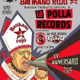 Image for LA POLLA RECORDS DIRECTO DE ESPANA TRIBUTO OFICIAL BATIKANO ROJO, CON FE DE RATAS Y LA GRAN MISERIA