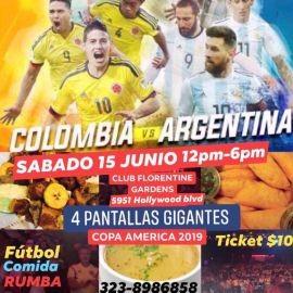Image for Copa America 2019 Colombia vs Argentina en Pantalla Gigante en Los Angeles,CA