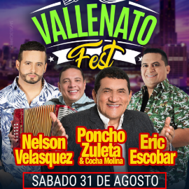 Image for Vallenato Fest Houston con Nelson Velasquez, Poncho Zuleta y Eric Escobar