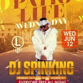 Image for Patio Life Wednesdays Season 2 DJ Spinking Live At The Lobby
