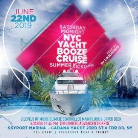 Image for NYC Yacht Booze Cruise Summer Kickoff at Cabana Yacht