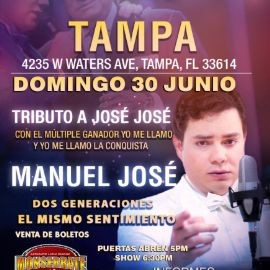 Image for Tributo a Jose Jose con Manuel Jose en Tampa