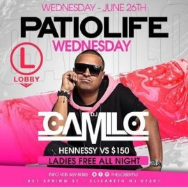 Image for Patio Life Wednesdays Season 2 DJ Camilo Live At The Lobby