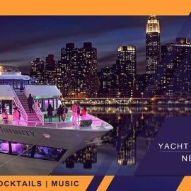 Image for YACHT PARTY CRUISE  NEW YORK CITY .   VIEWS  OF STATUE OF LIBERTY,Cockctails & drinks