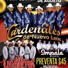 Image for Cardenales de Nuevo Leon,Los Ligaditos E Impala Norte En Concierto En Antioch,TN