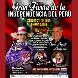 Image for Gran Fiesta de la Independencia del Perú, on Dayan Aldana, Cesar Augusto Altamirano, Anyi del Perú !