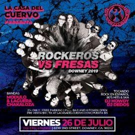 Image for ROCKEROS VS FRESAS. 2 LIVE BANDS. MANA / ENANITOS VERDES / CAIFANES / LOS PRISIONEROS ETC. VS EL TRI / EL HARAGAN / MOLOTOV / MAGO DE OZ ETC