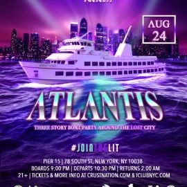 Image for ATLANTIS Boat Party Yacht Cruise around the Lost City NYC