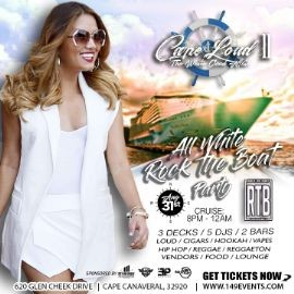 """Image for ROCK THE BOAT - """"CAPE LOUD II"""" (DRESS CODE: ALL WHITE)"""