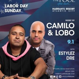 Image for Harrahs Pool Party Labor Day Weekend DJ Camilo Live With DJ Lobo At Harrahs Resort