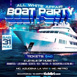 Image for ALL WHITE. BOAT PARTY.       PART 2